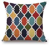 Pillow ZQ ZQ Home decorations General linen decorative throw pillow Cushion cover geometric patterns (colorful) 18 ""
