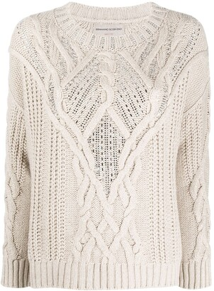 Ermanno Scervino Embellished Cable Knit Sweater