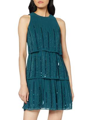 Dorothy Perkins Women's Joanie Sequin Tiered Trapeze Dress