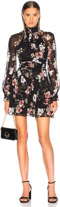 Nicholas High Neck Mini Dress in Black Rose | FWRD