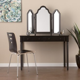 Andover Mills Archlyn Vanity Console with Tri-Fold Mirror
