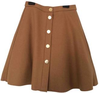 Maje Beige Wool Skirt for Women