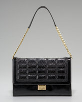 Patent and Quilted Snakeskin Bag