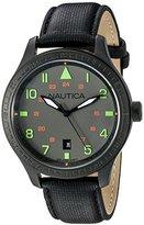 Nautica Men's N11109G BFD 105 DATE Analog Display Quartz Black Watch