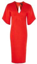 Topshop Textured Plunge V-Neck Midi Dress