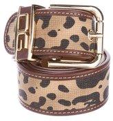 Dolce & Gabbana Logo-Accented Leopard Belt