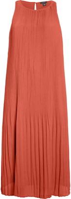 Halogen Pleated Sleeveless Midi Dress