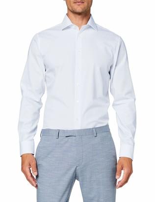 Seidensticker Men's Einfarbiges Schickes Hemd Mit Extra Tragekomfort Und Kent-Kragen Shaped Fit Langarm Formal Shirt