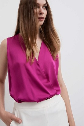 Witchery Sleeveless Wrap Blouse