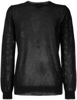 Roberto Collina perforated detail sweatshirt - men - Cotton - 48