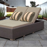 Solis Benitto Double Chaise Lounger Sun Chair - Beige Cushions