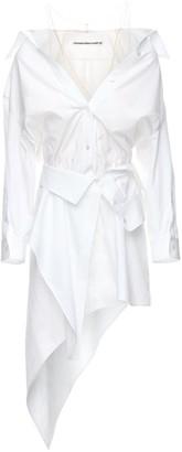 Alexander Wang Deconstructed Cotton Poplin Mini Dress