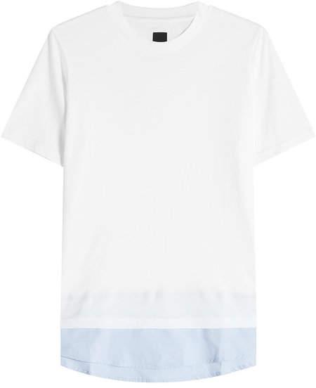 Oamc Cotton T-Shirt with Contrast Hem