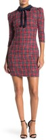 Alexia Admor Plaid Neck Tie Dress (Regular & Plus Size)