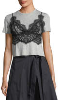 KENDALL + KYLIE Lace Camisole Combo T-Shirt