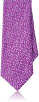 Barneys New York Men's Vine-Print Silk Necktie-PURPLE
