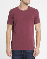 American Vintage Burgundy Vintage Odamint Round-Neck T-Shirt