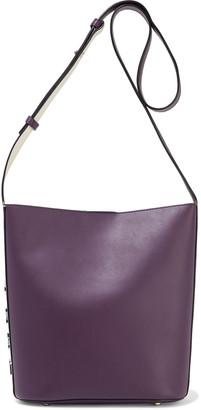 DKNY Bedford Medium Logo-appliqued Leather Bucket Bag