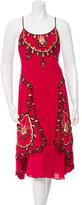 Temperley London Embellished Silk Midi Dress w/ Tags