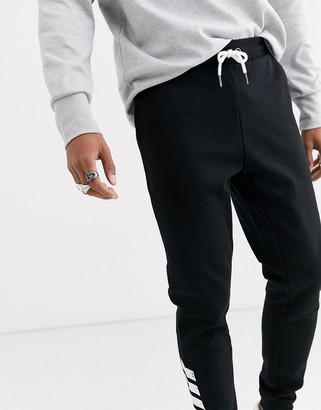 ONLY & SONS slim fit cuffed bottom joggers in black