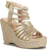Qupid Snake Strappy Wedge Open toe Jute Platform Women's shoes size 10