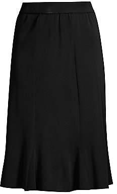 Misook Misook, Plus Size Women's Gored Ruffled A-Line Midi Skirt