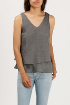 Azalea Double Layer V-Neck Tank Top