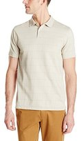 Van Heusen Men's Short-Sleeve Jacquard Windowpane Polo Shirt
