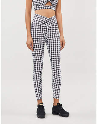 Beach Riot Cara houndstooth stretch-jersey leggings