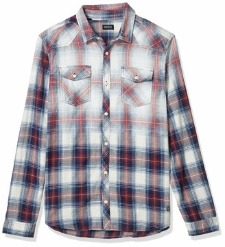 Buffalo David Bitton Men's Long Sleeve Button Down Regular fit Shirt
