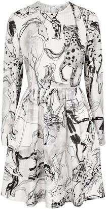 Stella McCartney Shaylee printed silk-satin dress