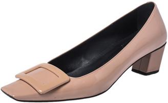 Roger Vivier Beige Patent Leather Belle Pumps Size 38.5