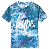 Hype Blue Sea Foam Print Branded T-Shirt