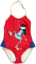 Little Marc Jacobs Girl Printed Lycra One Piece Swimsuit