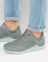 Asics Gel-Lyte Iii Leather Sneakers In Green H7k3l 8181