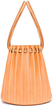 Mansur Gavriel Pleated Bucket Bag in Cammello | FWRD