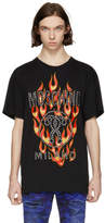 Moschino Black Studded Flame Logo T-Shirt
