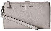 MICHAEL Michael Kors Double Zip Wristlet (Pearl Grey) Wristlet Handbags
