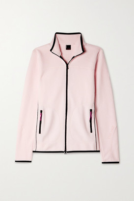 Bogner Fire & Ice Gilda Jersey-trimmed Fleece Jacket - Pastel pink