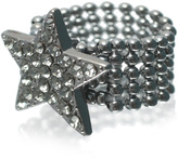 ASOS Stone Set Star Ring On Mesh Band