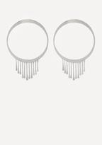 Bebe Fringe Hoop Earrings