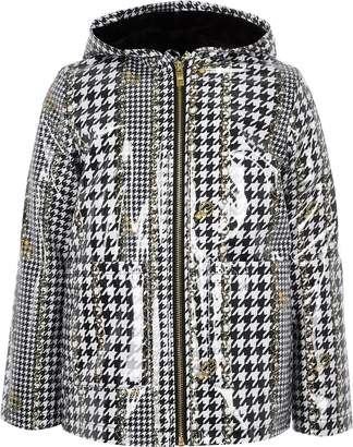 River Island Girls dogtooth check print rain mac