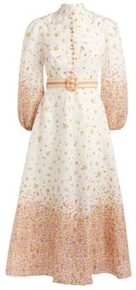 Zimmermann Long Belted Carnaby Dress