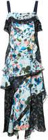 Tanya Taylor panelled floral print asymmetric dress