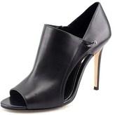 Elie Tahari Opiate Women Peep-toe Leather Black Heels.