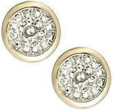 Townsend Victoria 18k Gold over Sterling Silver Diamond Accent Round Stud Earrings