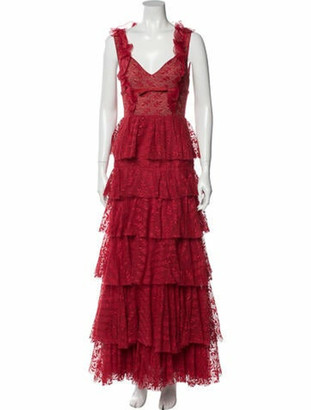 Giambattista Valli Sleeveless Evening Dress Red