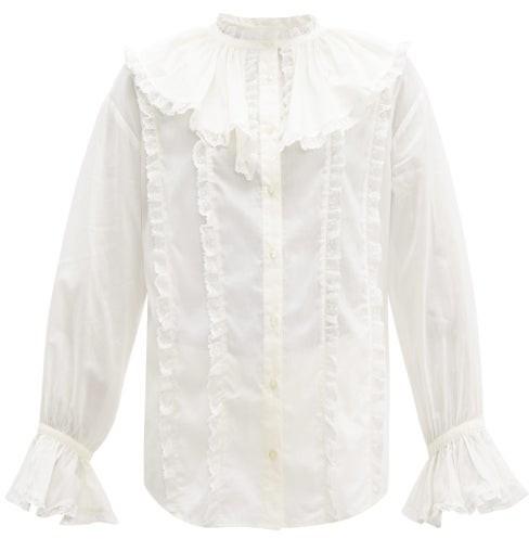 6589111d1f9 Lace Collar Top - ShopStyle