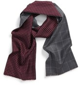 Hickey Freeman Men's Double Face Wool Scarf