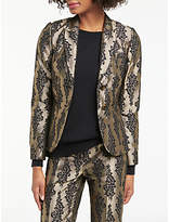 Boden Jacquard Party Blazer, Pewter/Black